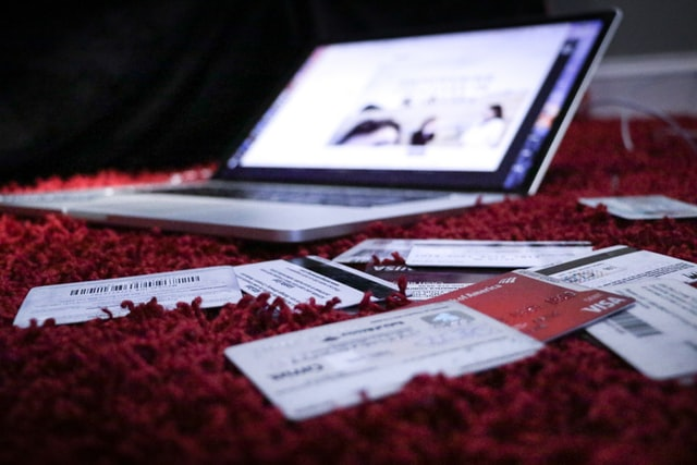 laptop and tickets